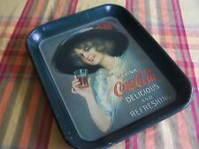 Vintage Coca Cola Tin Serving Tray Pin Up Girl Delicious and Refreshing
