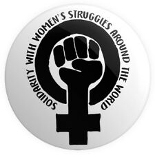 Feminism Symbol - Solidarity BUTTON PIN BADGE 25mm 1 INCH Feminist Women