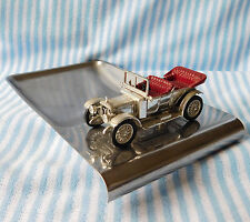 Vintage Lesney ashtray Classic car on stainless steel base Models of Yesteryear