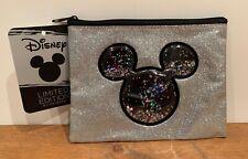 PRIMARK MICKEY MINNIE Make Up Bag Cosmetic Silver Glitter Pouch BNWT