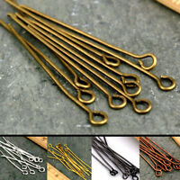 50/100Pcs Metal Silver Gold Plated Head Pin Jewelry Making Findings 16-60mm