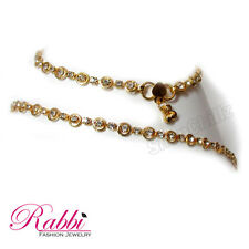 Rabbi Gold plated Cz White Stone Anklet payal