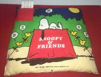 TOOTH FAIRY SNOOPY WOODSTOCK PEANUTS PILLOW HALLMARK DOGHOUSE ZZZ VINTAGE