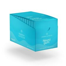 NeuroGum Energy & Focus Gum 12 Pack | Natural Caffeine + L-theanine + B-vitamins