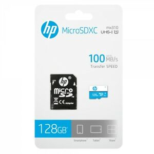 HP MicroSd mi310 64/128GB Class 10 UHS-I Memory Card with Adapter
