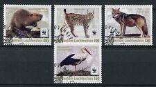 Liechtenstein 2017 CTO WWF Returnees Beaver Lynx Wolf Storks 4v Set Birds Stamps