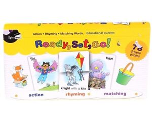 New Flashcard Ready, Set, Go! Action Rhyming & Matching 78pc Educational Puzzles
