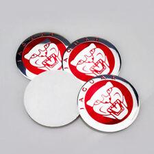 4X red for Jaguar Wheel RIM Center Hub Caps Badge Emblem Car tire Sticker 56.5m