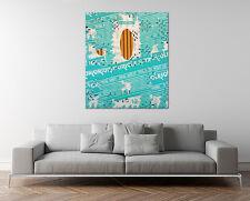 Original SCOTT SAMUELS Pop Art Oil Painting Mixed Media Collage Green Abstract