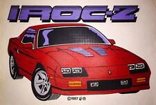 LAST1 80s Chevrolet Camaro 1987 Iroc-Z Muscle Car RS SS Z28 Copo T-shirt iron-on