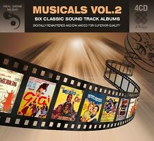 MUSICALS VOL. 2 (KISS ME KATE, THE BAND WAGON, FLOWER DRUM SONG, ...) 4 CD NEU