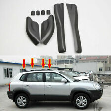 For Hyundai Tucson 2004-08 Black Roof Rails Rack End Cover Shell Cap Replace 4ps