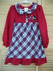 DISNEY STORE Mickey & Minnie Mouse Christmas Holiday gown~girl's siz 4~nightgown
