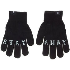 Sourpuss Stay Away Knit Gloves Black Tattooed Knuckles