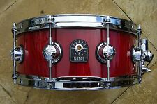 "NATAL SNARE DRUM, SEGMENTED STAVE SHELL - ASH. 14"" x 5.5"" shell - for drum kit."