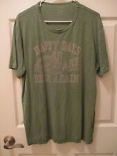 Vintage Lucky Brand Made In Usa Happy Beer Men's Graphic Tee Shirt Green Xl