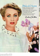 PUBLICITE ADVERTISING 055  1981  CHARLES OF THE RITZ  PETALES de l'AURORE  maqui