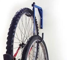 2 Bike Bicycle Wall Mounted Hanging Rack Space Saving Storage