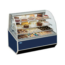 """Federal Snr-48Sc 48"""" Full Service Bakery Case w/ Curved Glass ( Black )"""