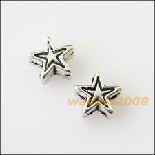 70 New Tiny Star Charms Tibetan Silver Tone Spacer Beads 6mm