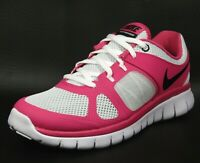 Nike Flex 2014 RN GS Girl's Sneakers Running Walking Shoes Pink Gray 642755 005