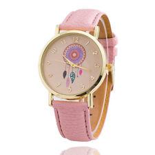 Dream Catcher Womens Leather Strap Stylish Watch - Pink