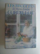 LES RECETTES DE MARIE LOUISE CORDILLOT - 1975 - FLAMMARION - RECETTES DE CUISINE