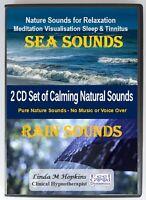 Sea Sounds and Rain Sounds 2 CD Box Set For Relaxation Sleep & Tinnitus