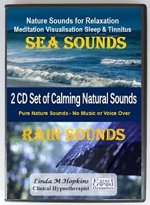 Sea Sounds and Rain Sounds 2 CD Box Set For Relaxation Sleep & Tinnitus
