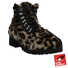Moschino Ankle Boots | UK 9 | Leopard Faux Fur | Limited Edition | Rare