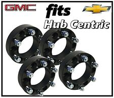 "4 CHEVY BLACK HUB CENTRIC 2"" THICK WHEEL SPACERS ADAPTERS 6x5.5 78.1 HUB BORE"