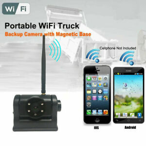 WiFi APP Magnetic Rechargeable Reverse Backup Camera for iOS Android CellPhone