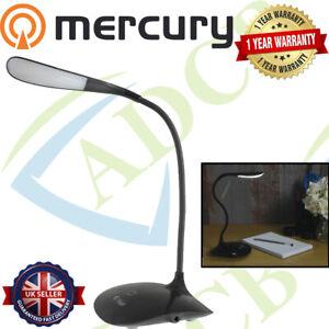 Touch Sensor Dimmable USB Powered LED Desk Table Bedside Reading Lamp Light
