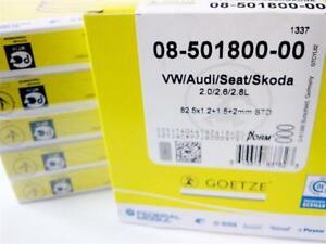 4 Satz Kolbenringe GÖTZE 82,5mm 2E 9A 3A 6A ABF ADY AGG AKR ACE Turbo VW Audi