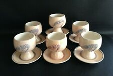 More details for toni raymond pottery shrimp  / prawn cocktail cup dishes & saucers x 6