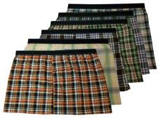 6  Big and Tall Men's Exposed Elastic Waistband Plaid Boxer Shorts Underwear