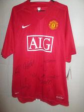 Manchester United 07-08 Squad Firmado Home Football Shirt & Mufc Coa BNWT / 5196