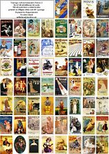 MORE VINTAGE ADVERTISING ART SERIES 2-60 ALL DIFFERENT A6 ART CARDS