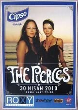 The Pierces 2010 Gig Poster Istanbul Turkey Concert