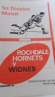 19.1.75 Rochdale Hornets v Widnes programme
