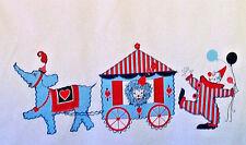 Sweet vintage circus novelty clowns, animals cotton fabric curtain drape panels!