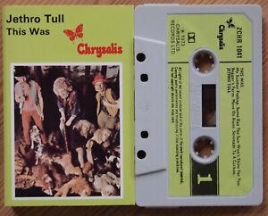 JETHRO TULL - THIS WAS (CHRYSALIS ZCHR 1041) 1973 UK CASSETTE TAPE VG+