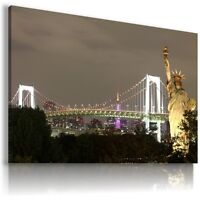 NEW YORK CITY STATUE OF LIBERTY View Canvas Wall Art Picture Large L99 X MATAGA
