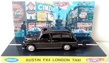 WELLY 1:64 AUSTIN FX4 LONDON TAXI Diecast Model Car on Custom Repro Display Base