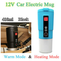 410ml Travel Car Coffee Mug Temperature Boiling Heated Cup Electric Kettle 12V
