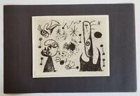 "Joan Miro ""Barcelona Series XLVII ""  Mounted offset Lithograph  1973 PlateSigned"
