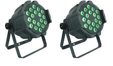 2x LED PAR Light 18x18W RGBWA UV 6in1 DMX512 Stage Light DJ Bar Home Party