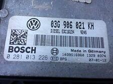VW Golf Jetta Motore DIESEL ECU 03G906021KH, 0281013226 EDC16U34, 0 281 013 226