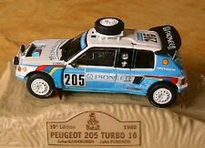 PEUGEOT 205 TURBO 16 T16 PARIS DAKAR 1988 KANKKUNEN 1/43 NOREV M6 COLLECTIONS