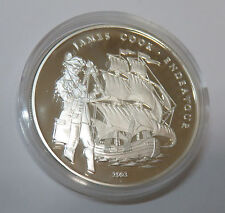CONGO KONGO 1000 FRANCS 2003 JAMES COOK ENDEAVOUR SEGELSCHIFF SHIP SILBER PP